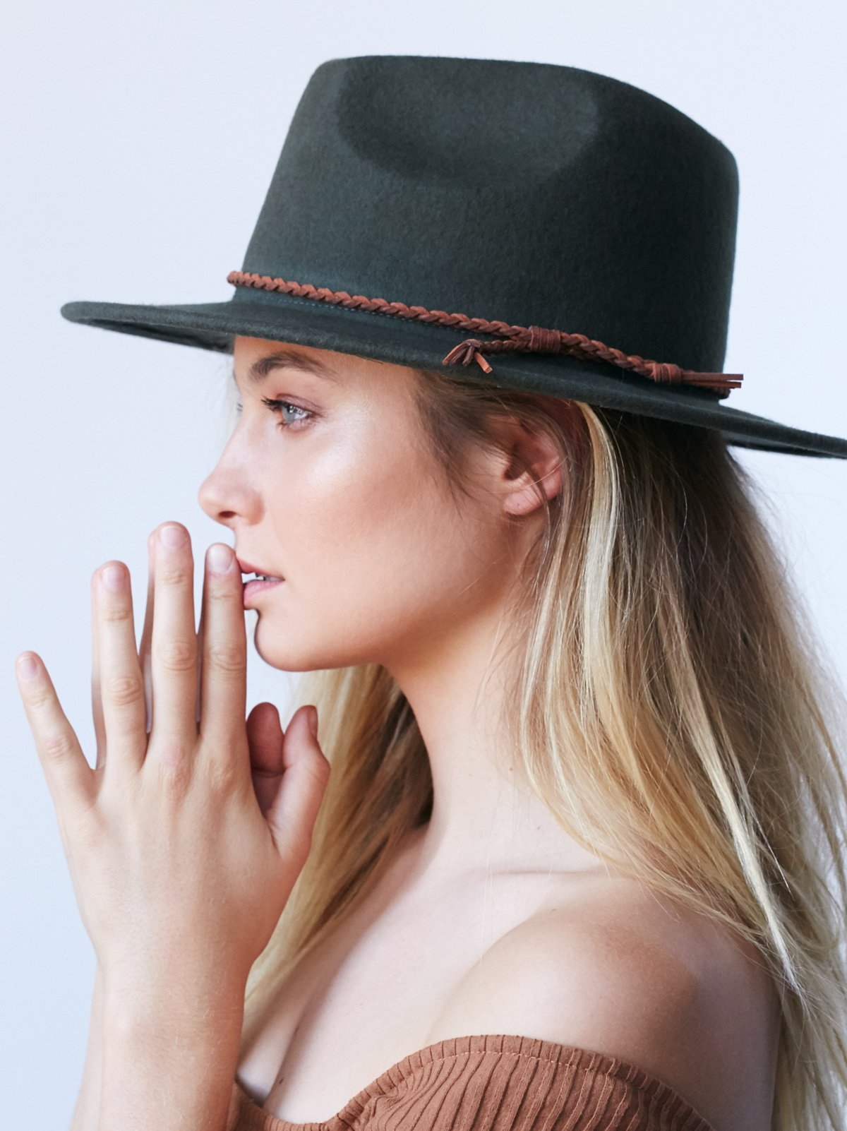 Joan Leather Banded Hat