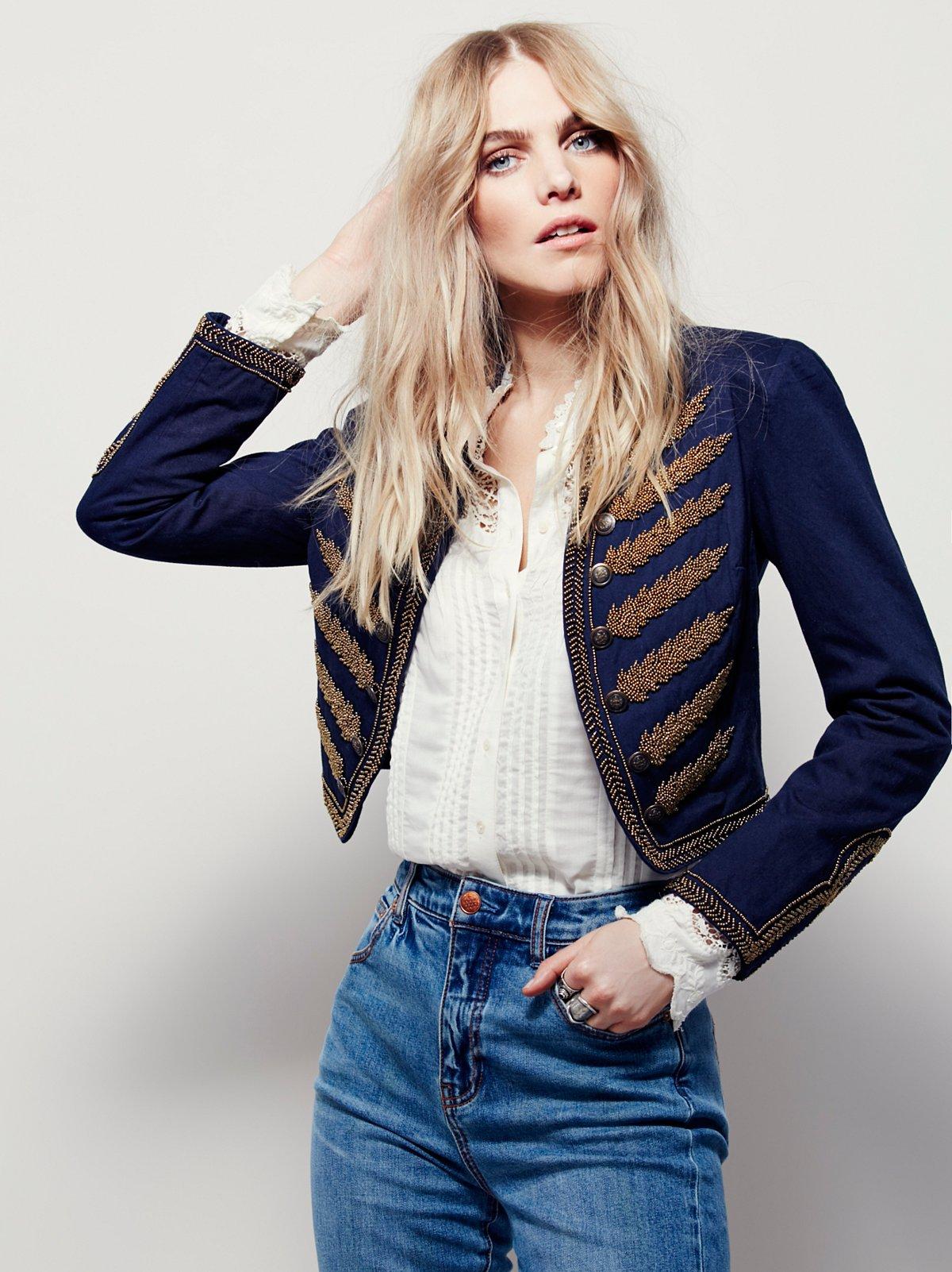 Embellished Band Jacket