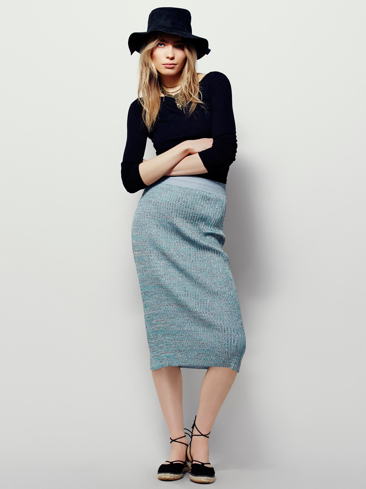 Figure It Out Knit Skirt