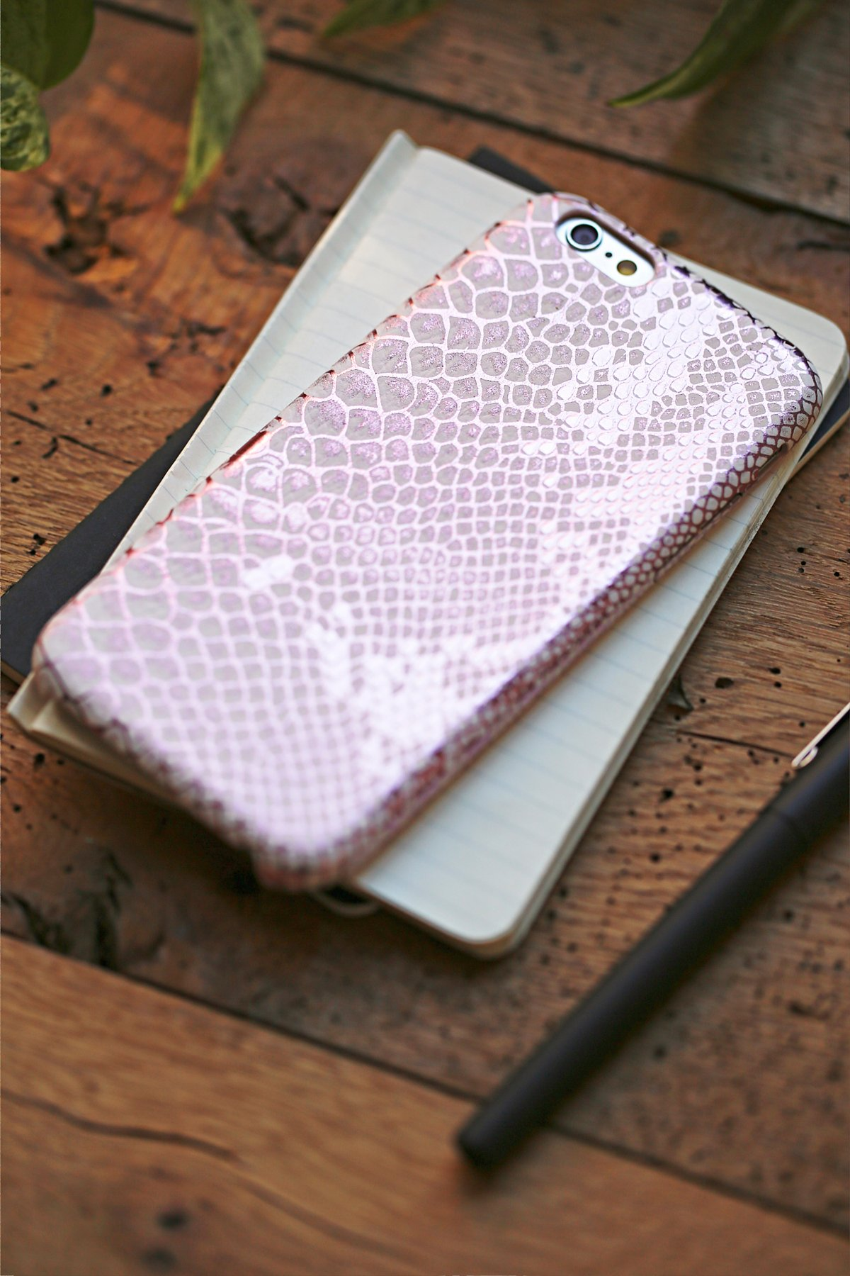 Embossed Snake Leather iPhone Case