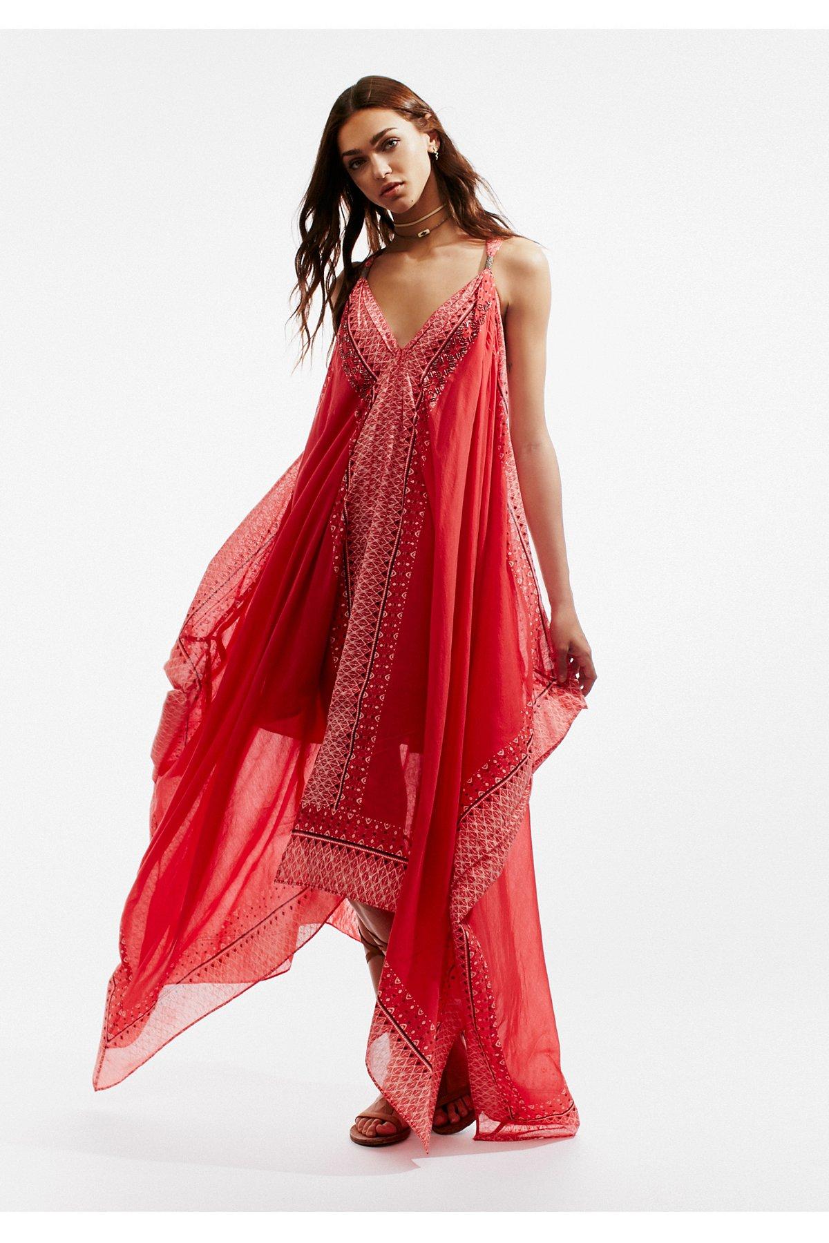Merida印花及踝长裙
