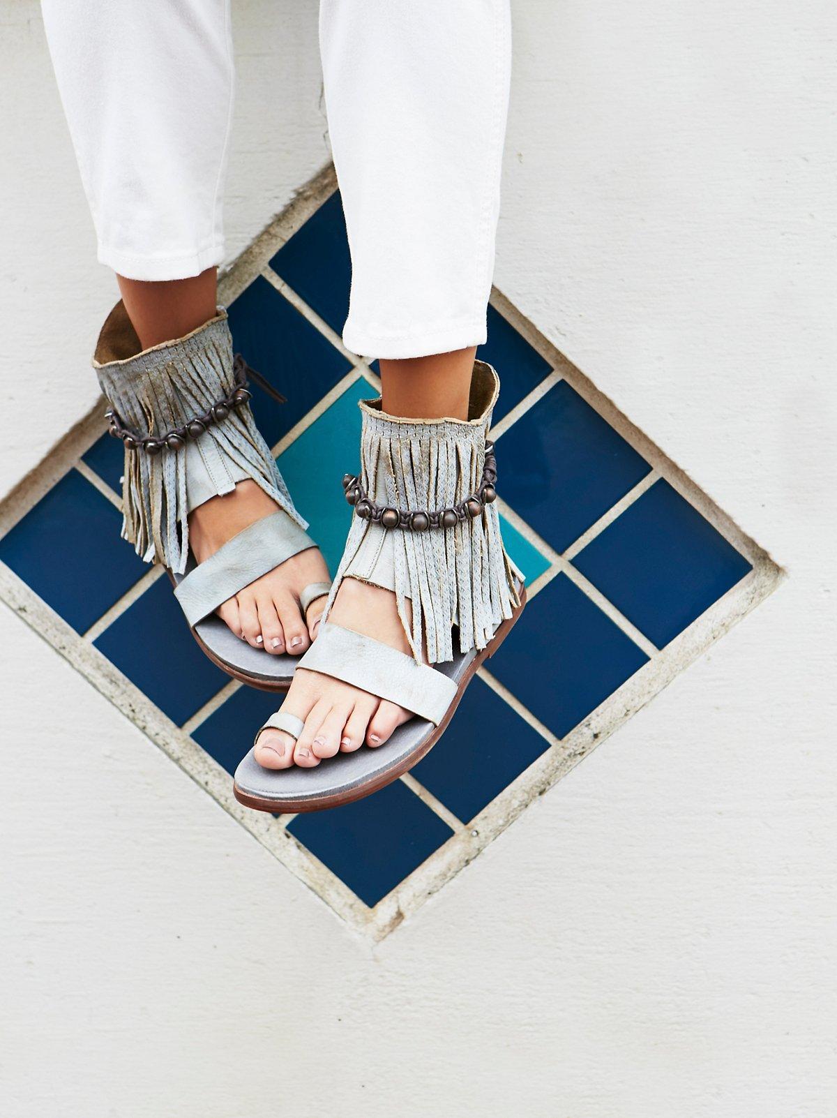 Washed Ashore Fringe Sandal