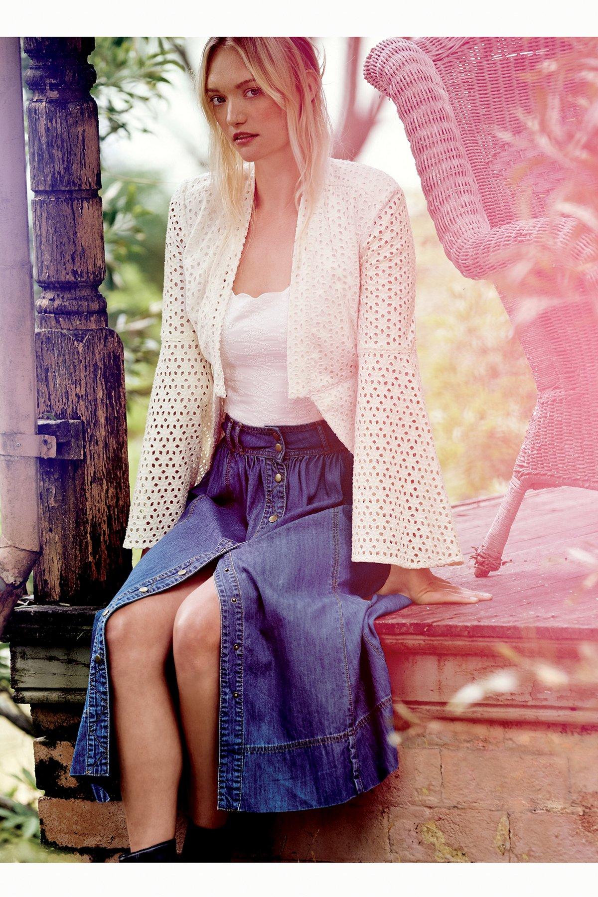 Margo Denim Midi Skirt