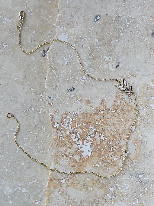 Product Image: Split Arrow Diamond Necklace