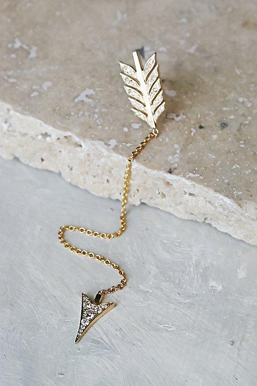 Product Image: 14k单颗钻石Arrow Duster耳环