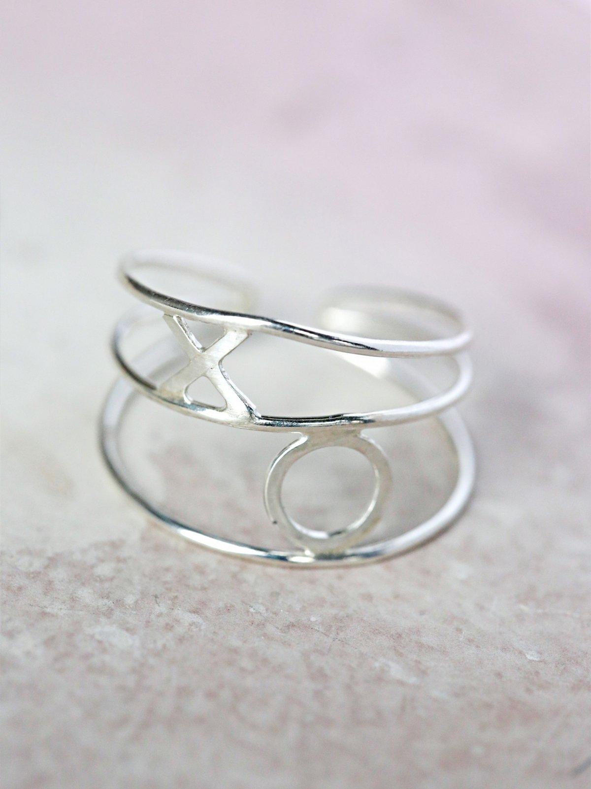 Xo缠绕式戒指