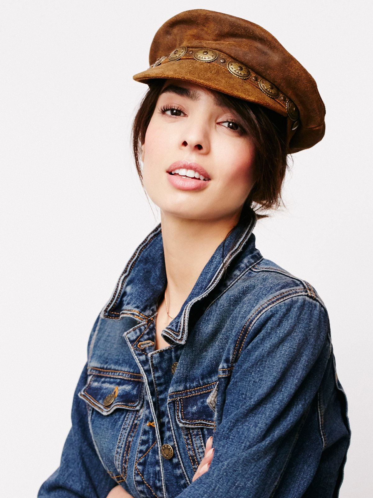 Winding Road Leather Lieutenant Hat