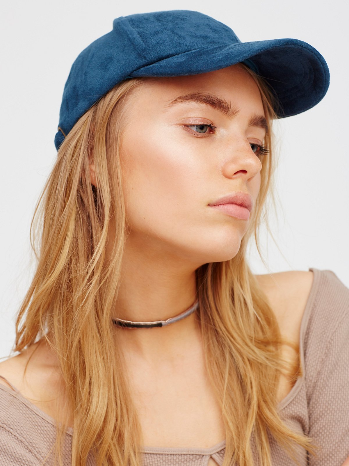 Williamsburg Faux Suede Baseball Hat