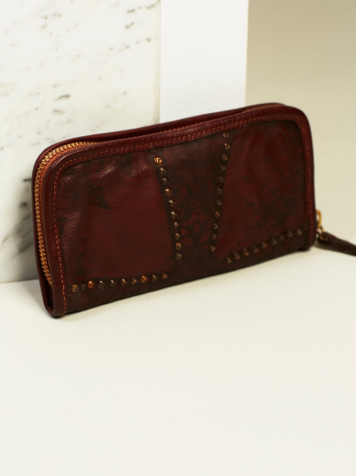 In Bloom Studded Leather Wallet