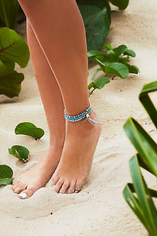 Product Image: Sandbar Beaded Anklet Set