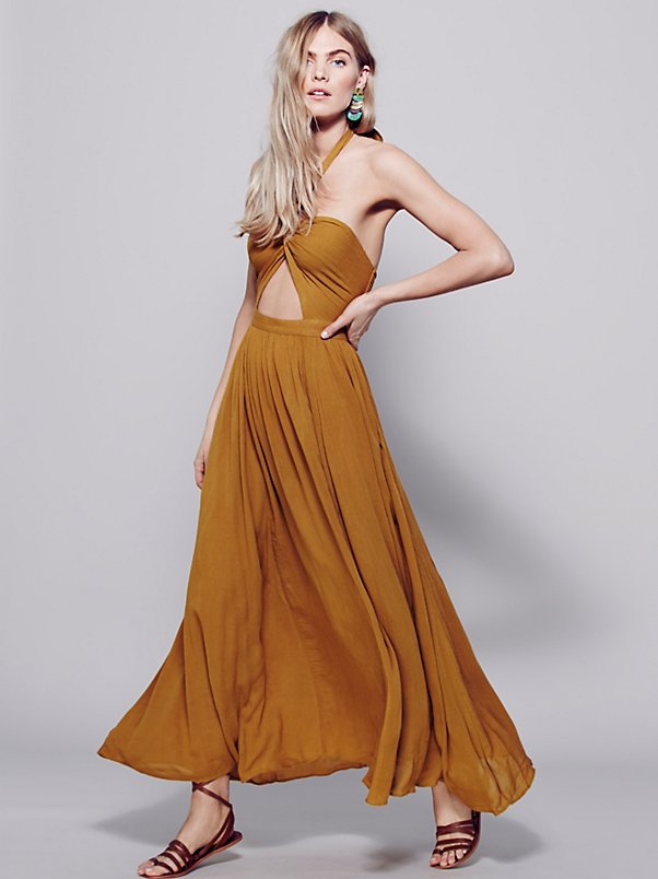Free People Twist Shake Maxi Dress