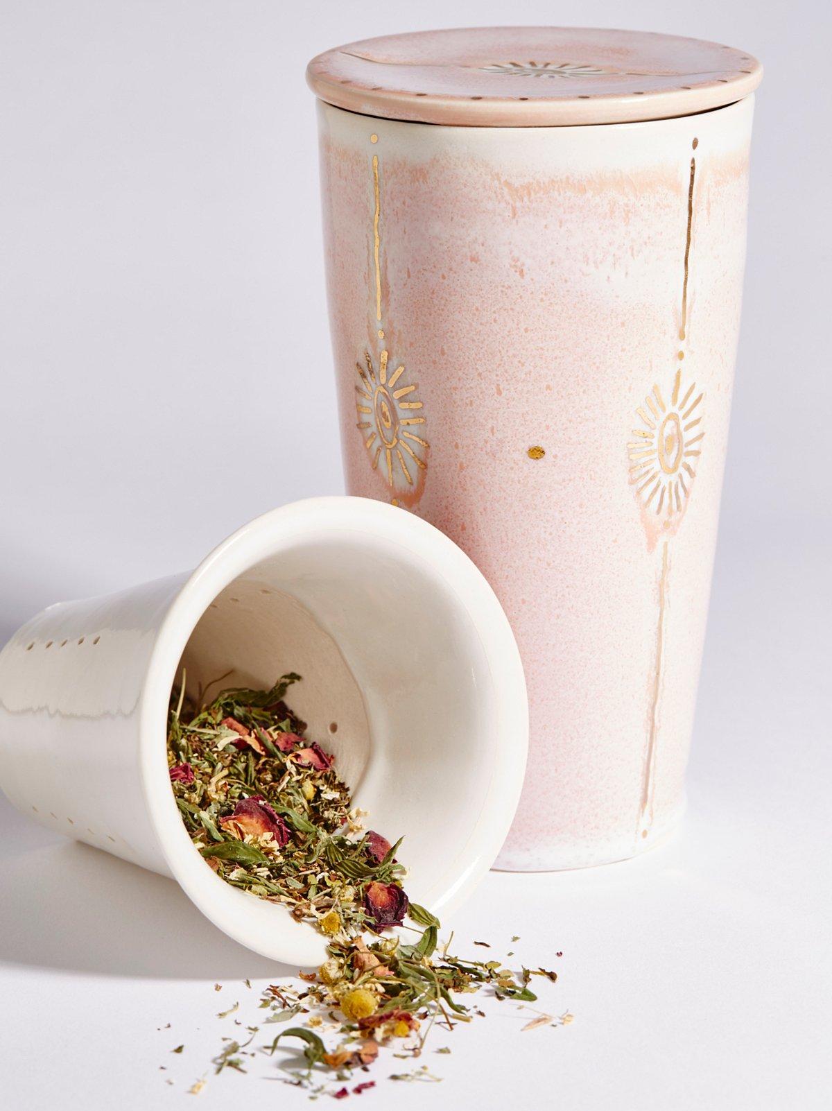 To Go Tea Steeping马克杯