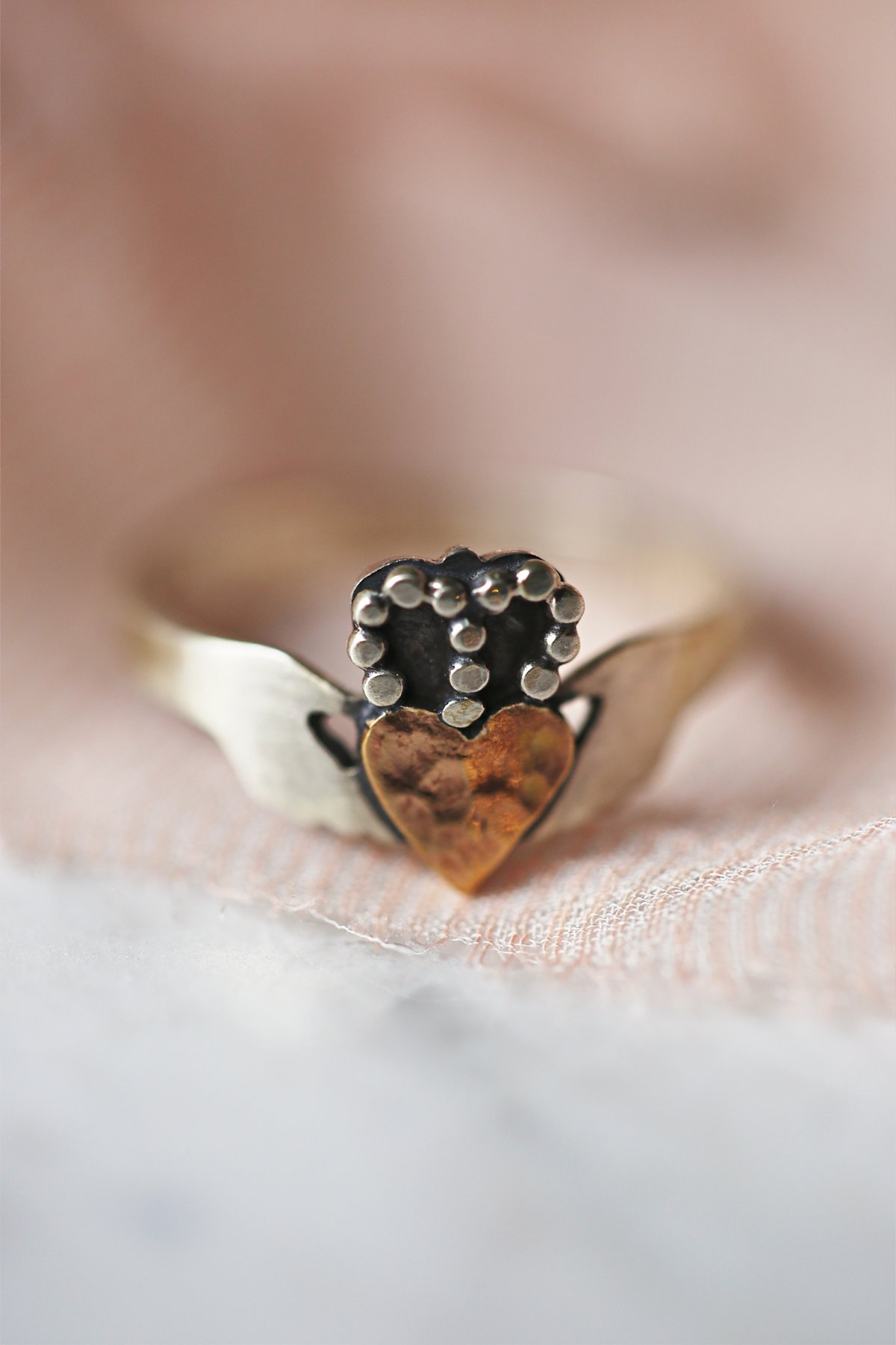 Modern Claddagh Ring