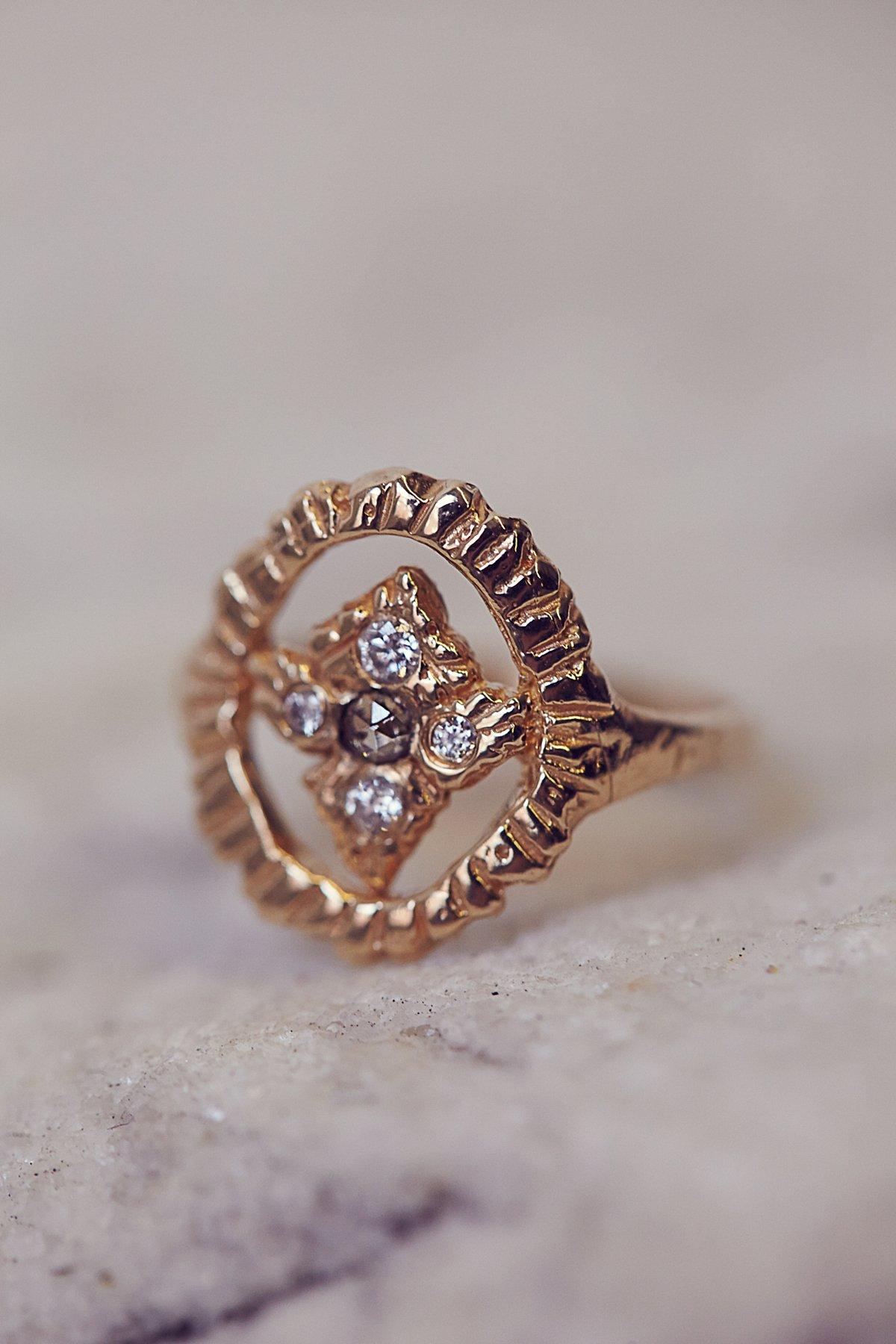 Radiance Shield Diamond Ring