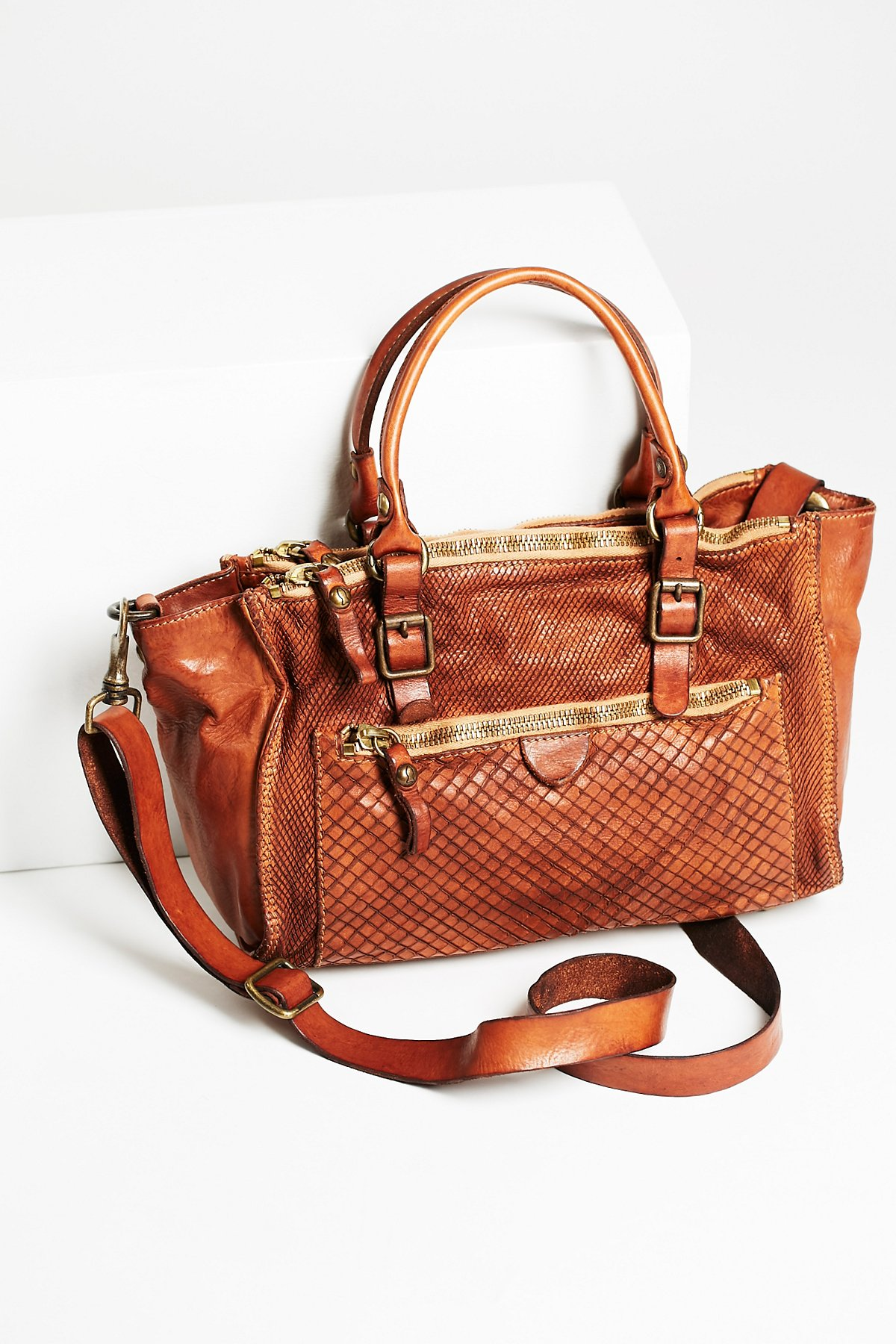Roma Distressed Leather Tote