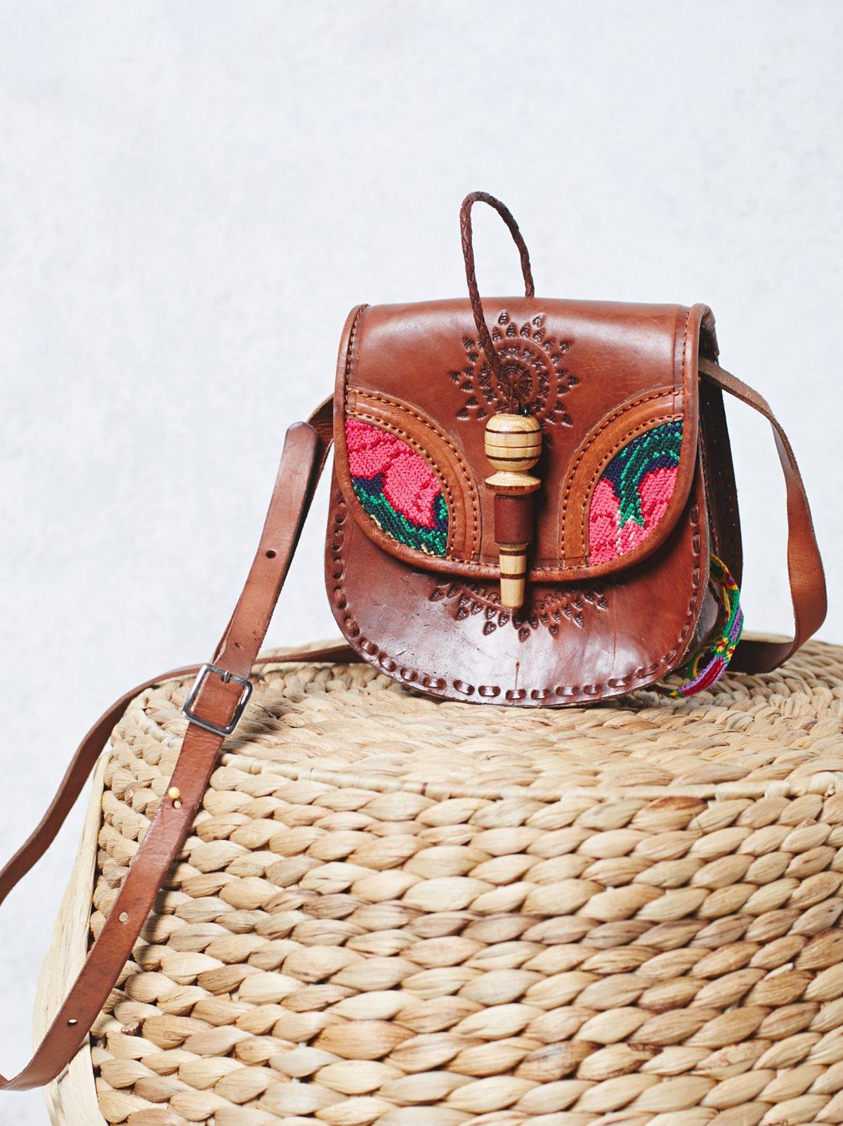 Flora Tooled Saddle Bag