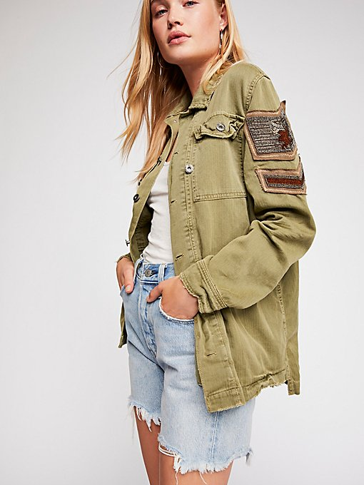 Product Image: Embellished Military Shirt Jacket
