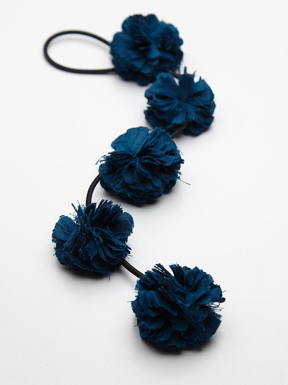 Pom Pom花卉编织发绳