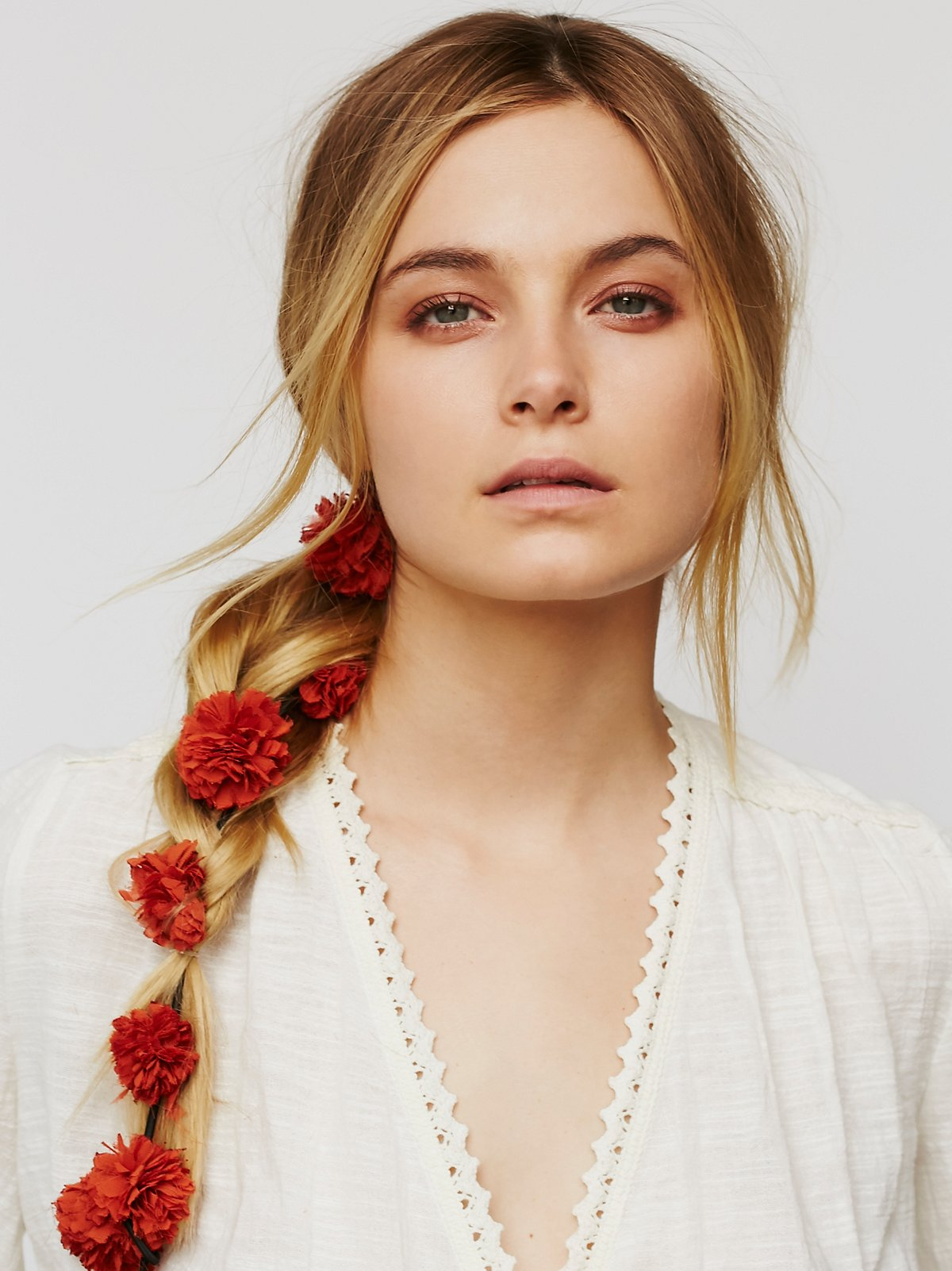Pom Pom Floral Braid In