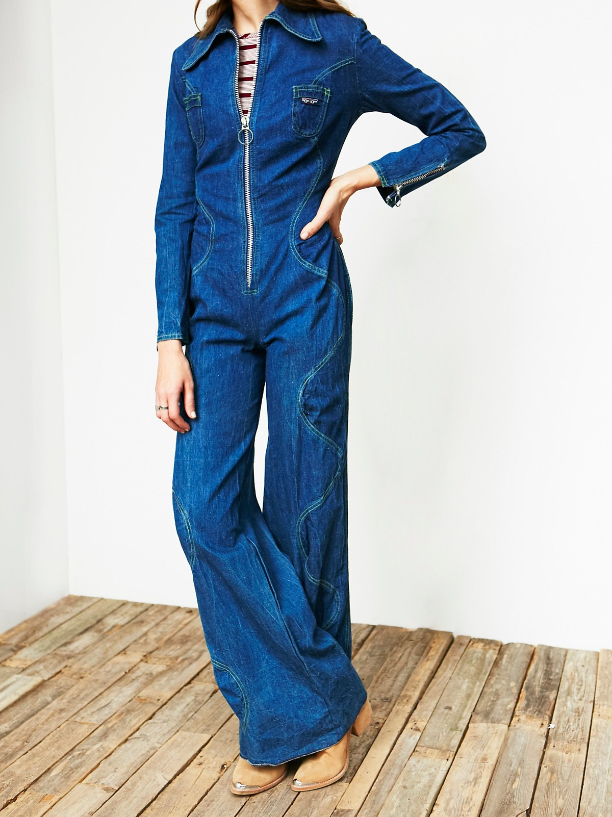 Vintage 1970s Flared Jumpsuit