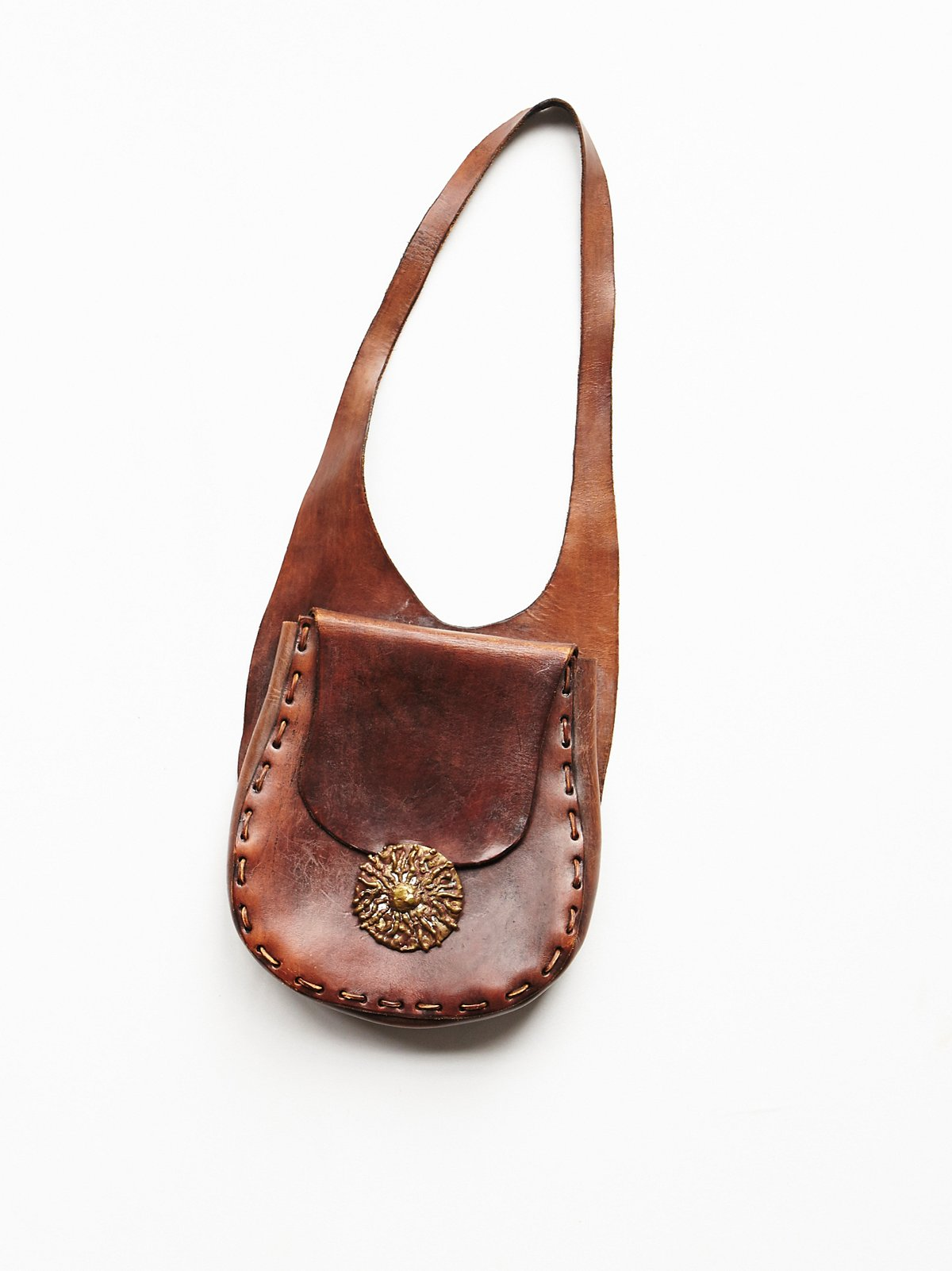 Vintage '70s Brown Leather Bag