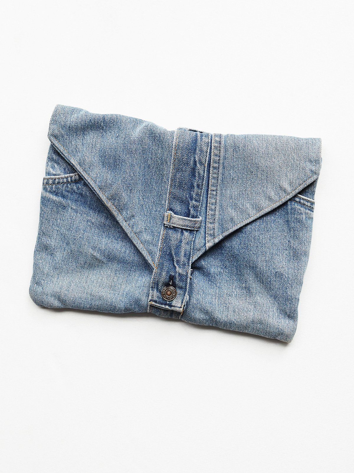 Vintage Handmade Denim Clutch