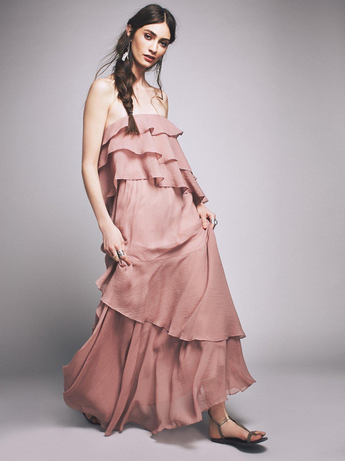 Waterfall及踝长裙
