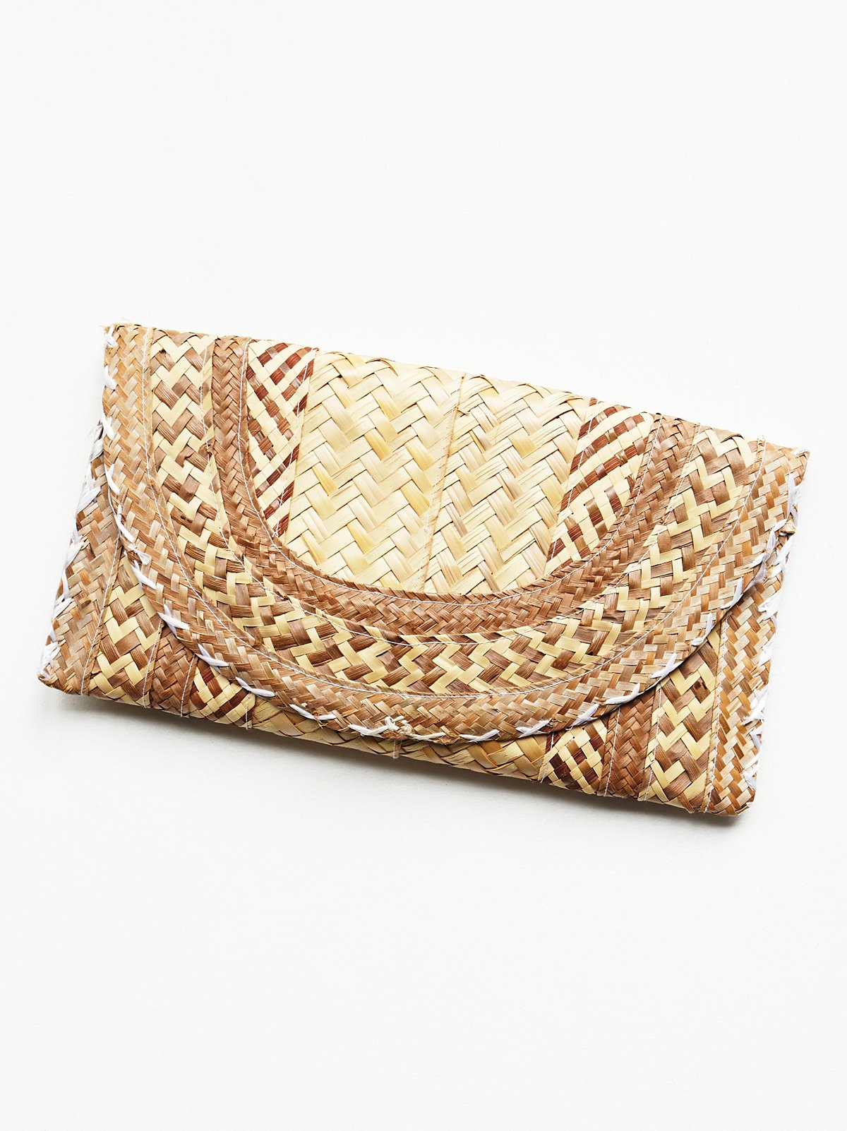 Vintage Woven Straw Clutch