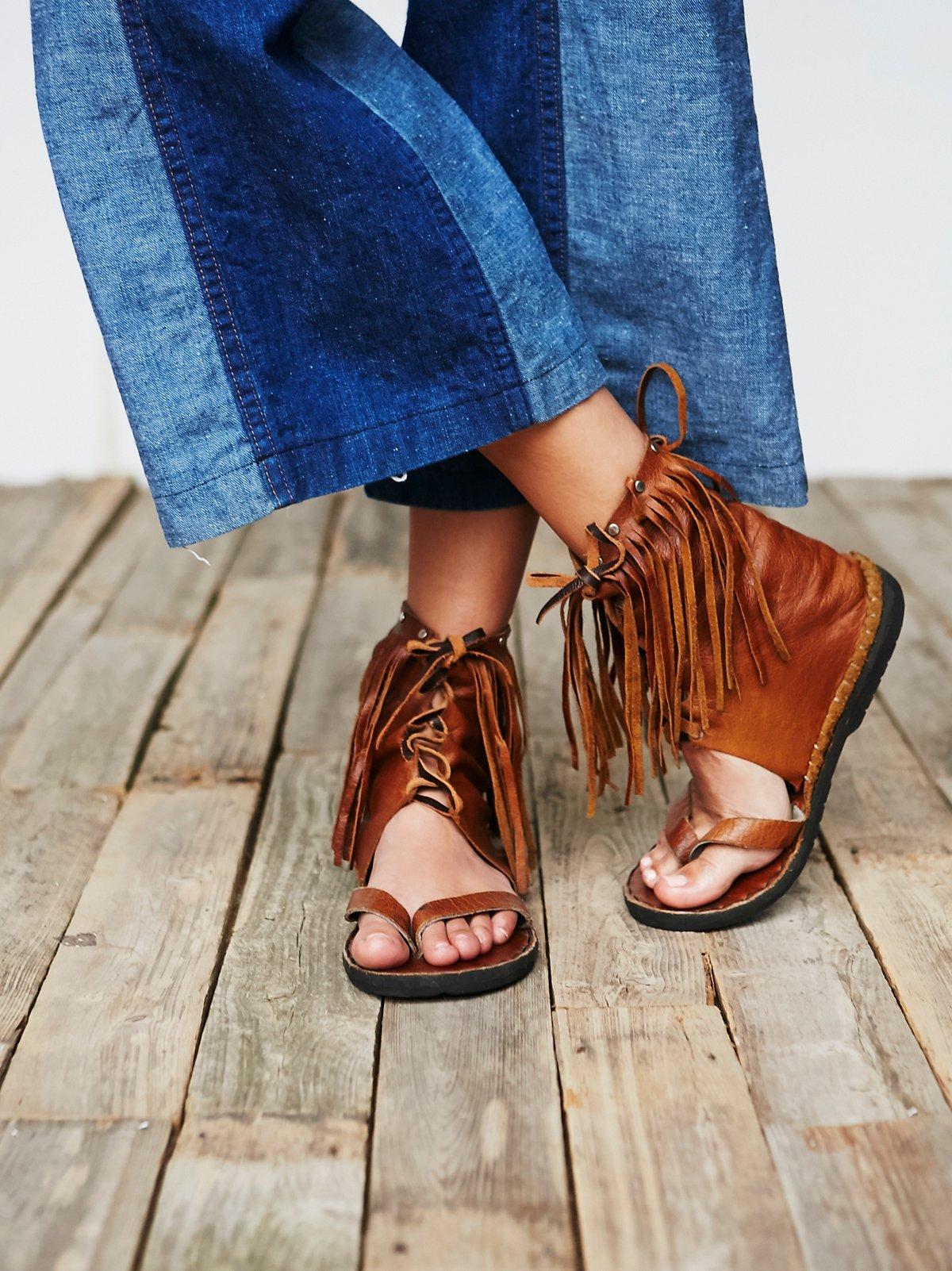 Vintage Fringe Suede Sandals