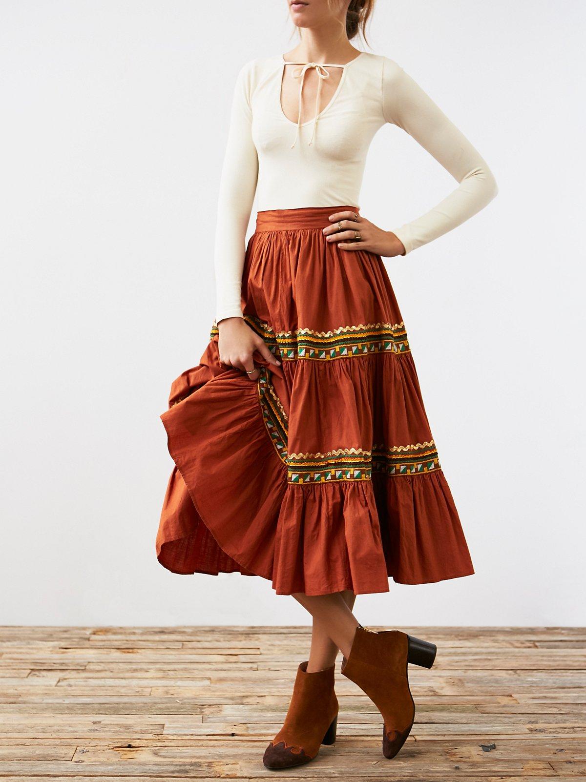 Vintage Fiesta Prarie Skirt
