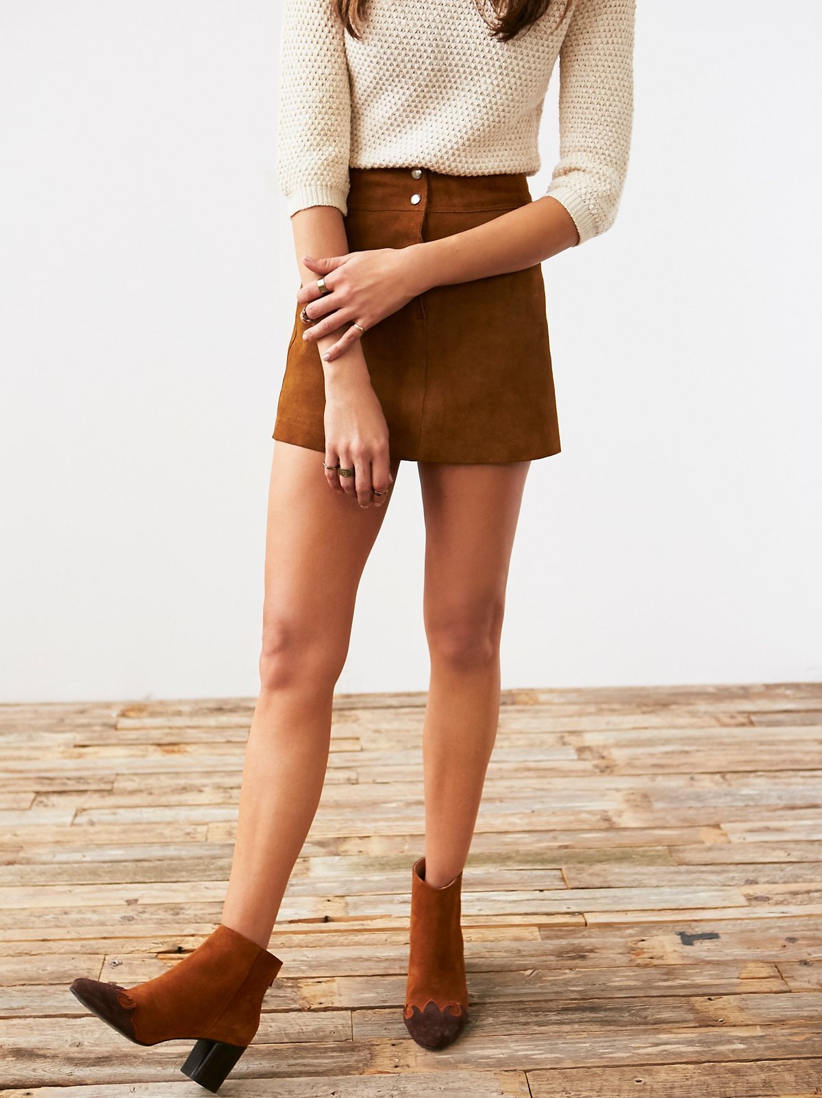 Vintage Roughout Suede Skirt