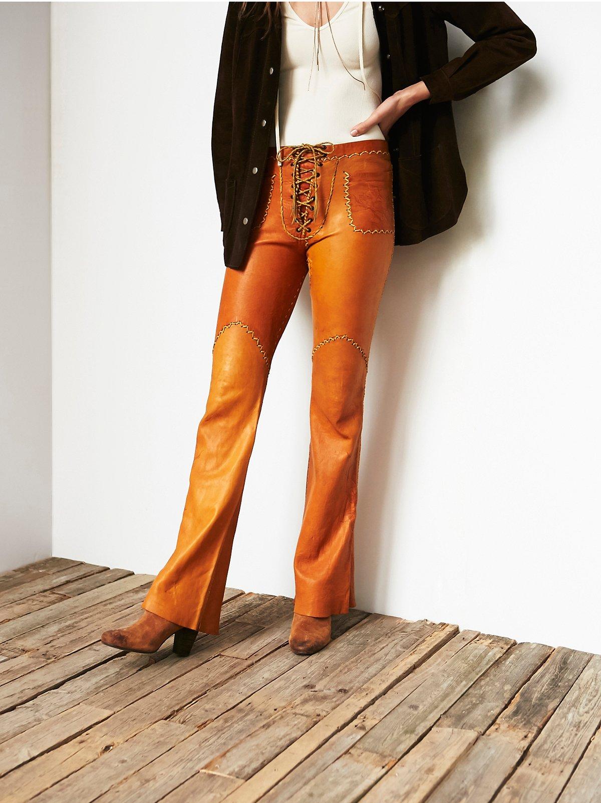 Vintage Tooled Leather Pants