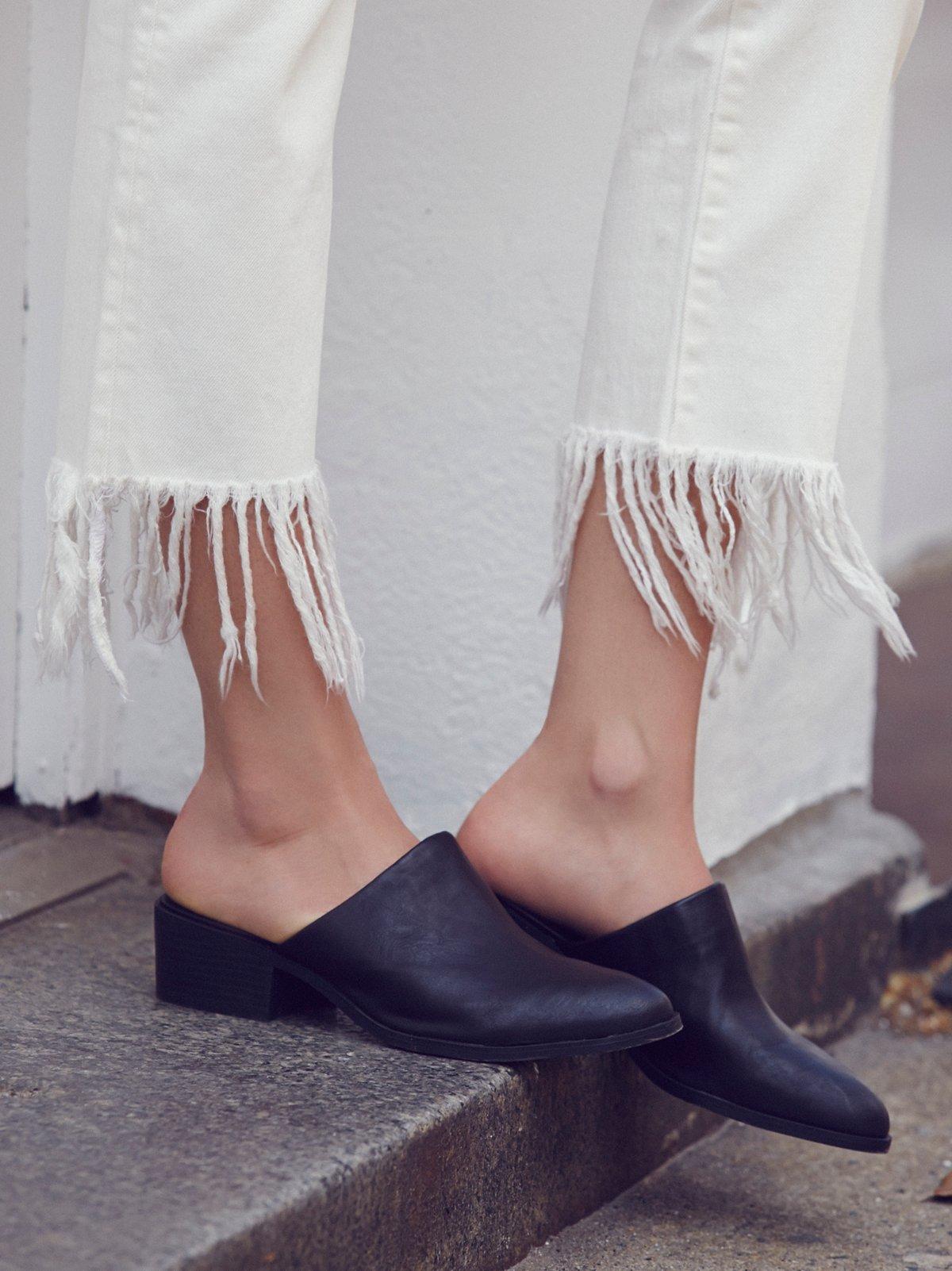 仿皮Spirit穆勒鞋