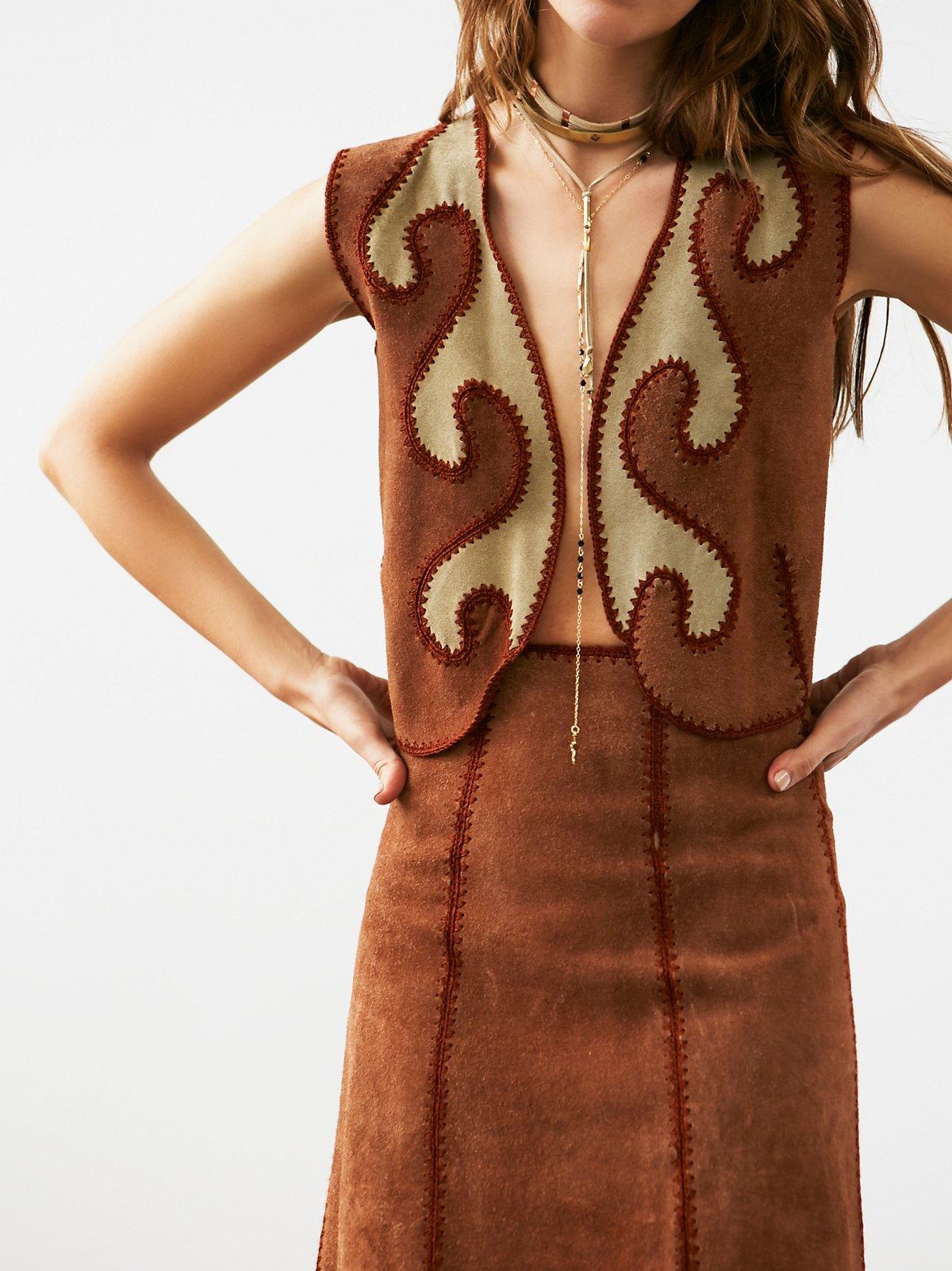 Vintage Roughout Suede Vest