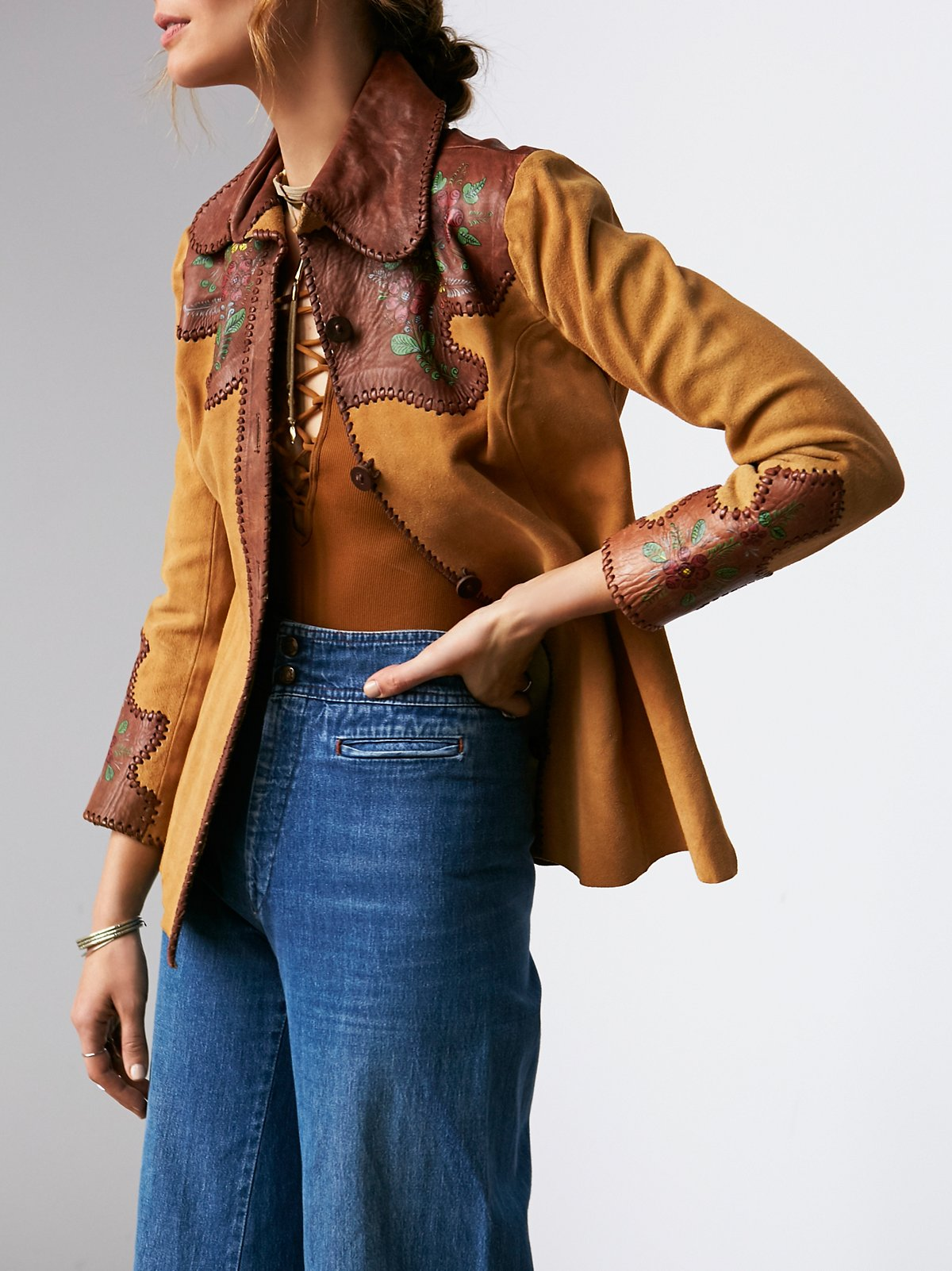 Vintage Painted Suede Shirt