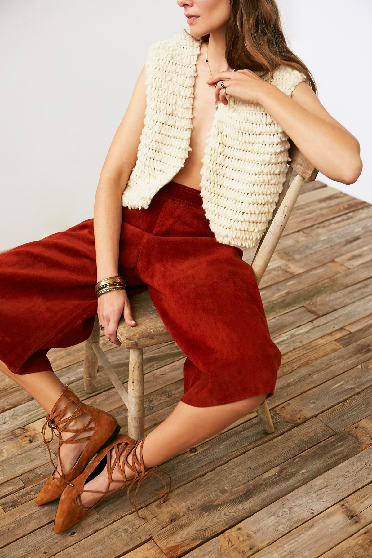 Vintage Shaggy Knit Vest