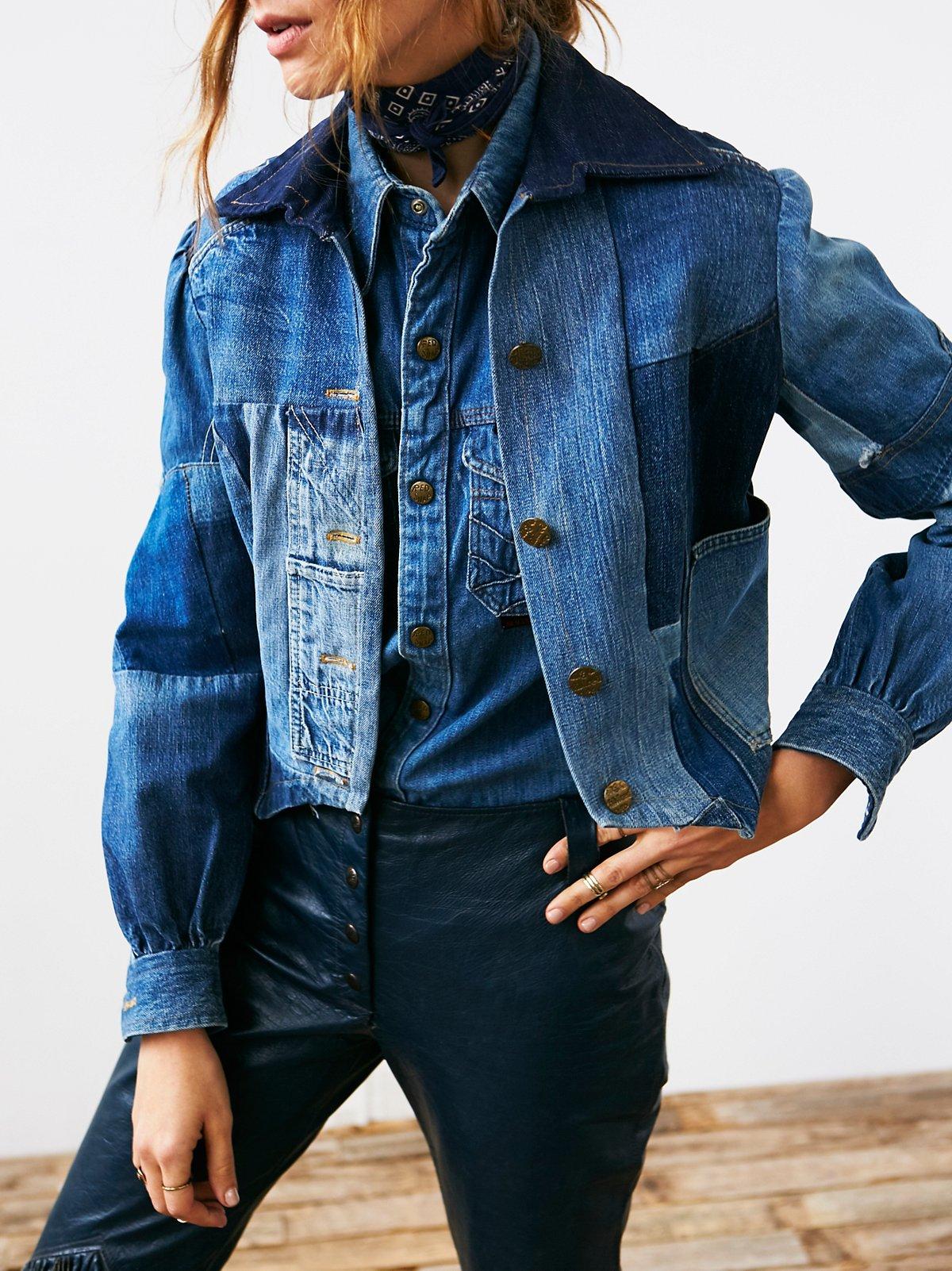 Vintage Patchwork Denim Jacket