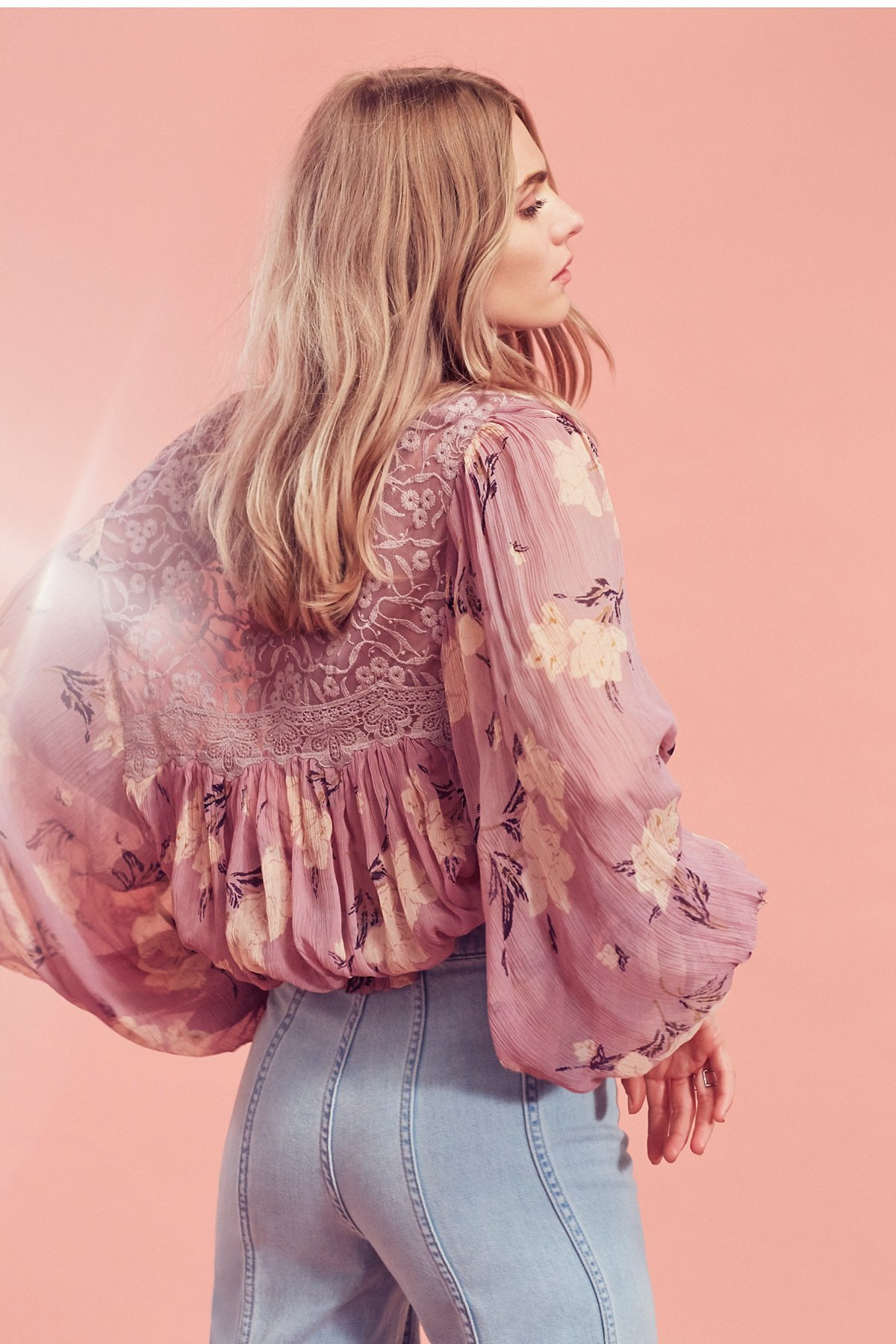 Caught Up Printed Blouse