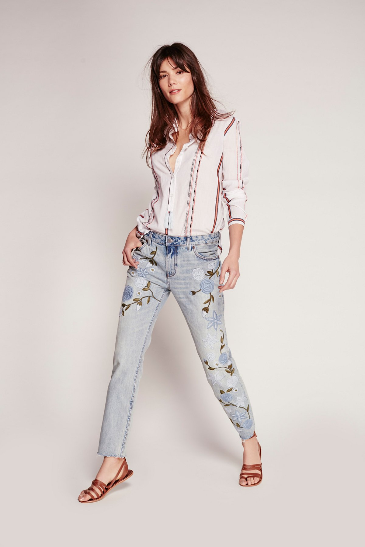 Shower Me with Flowers Jeans