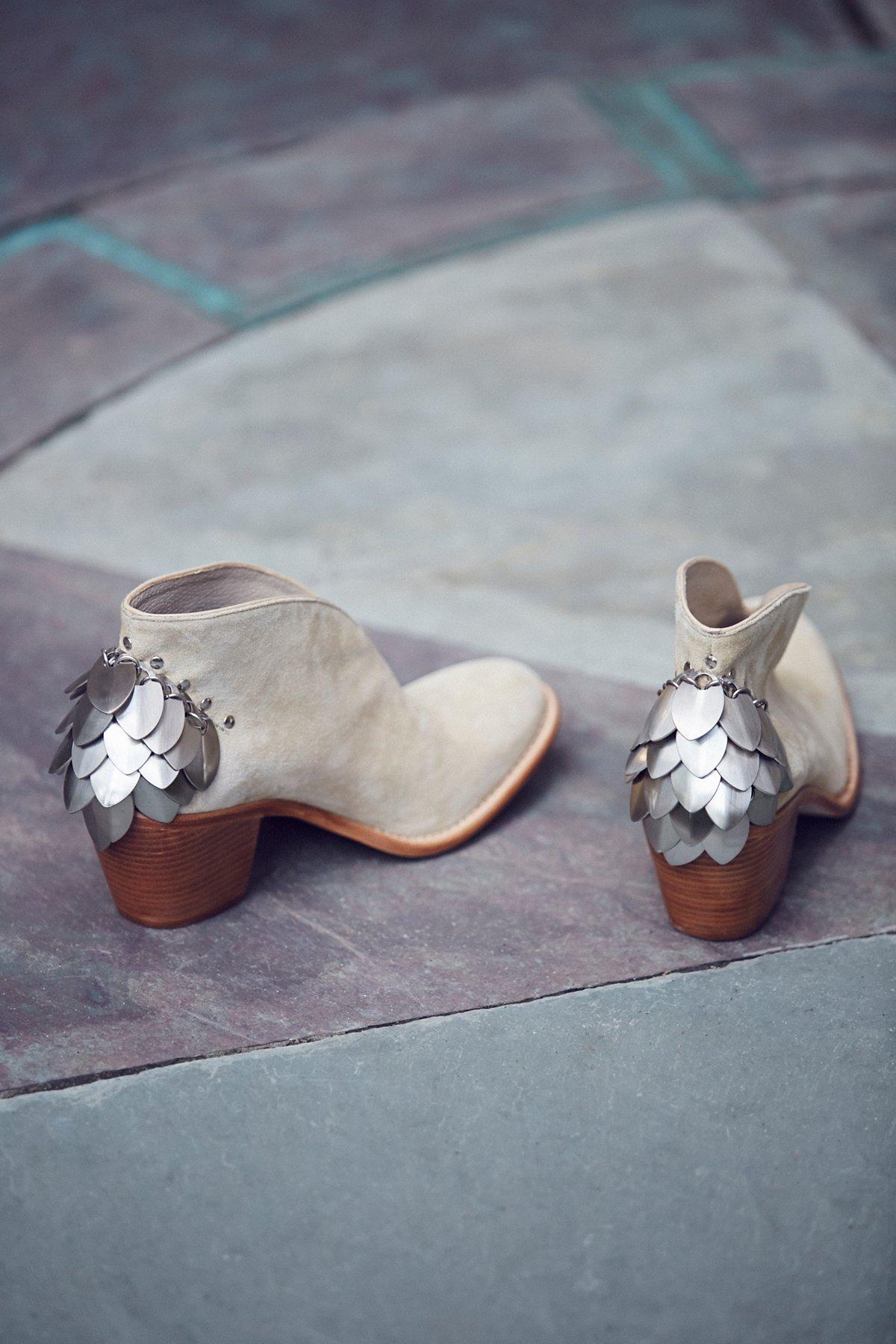 Silver Diamond踝靴