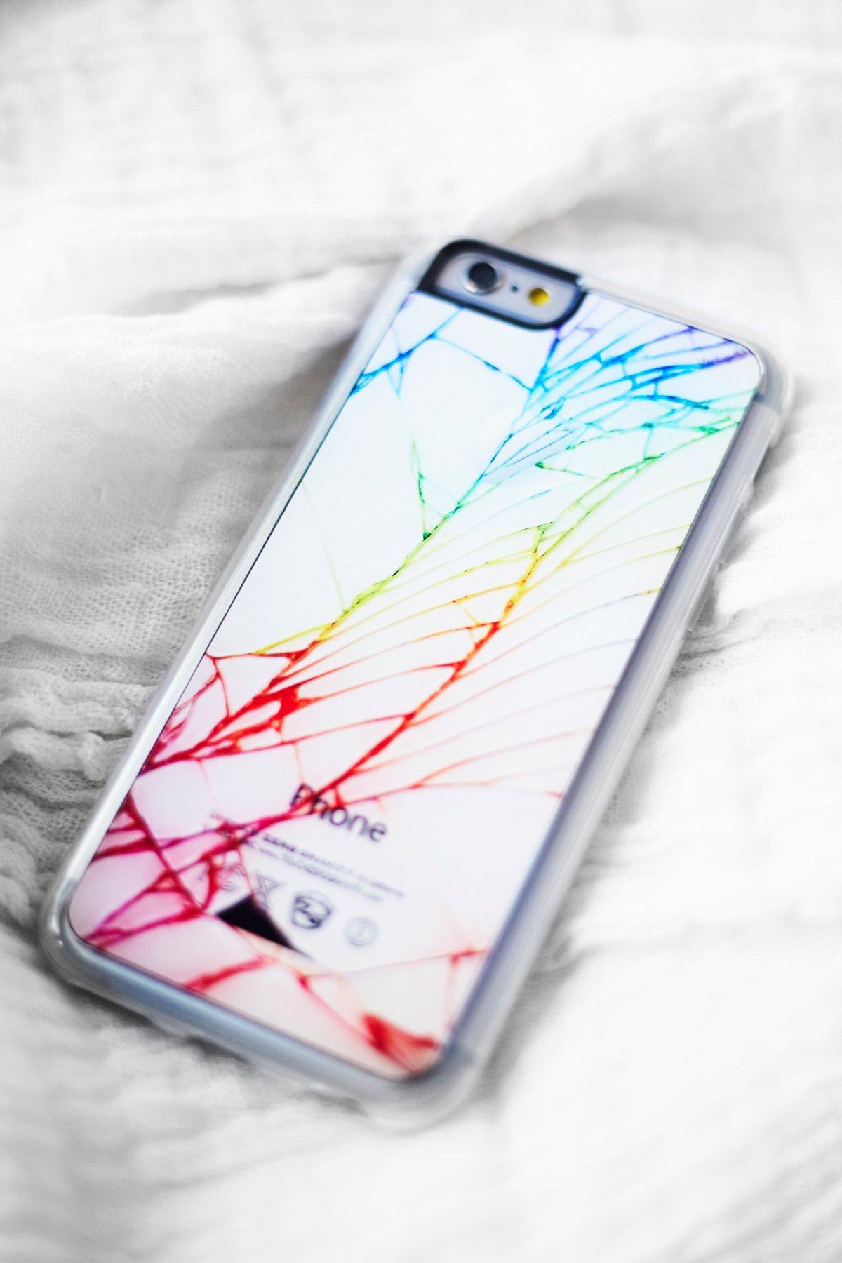 Rainbow Crushed iPhone Case