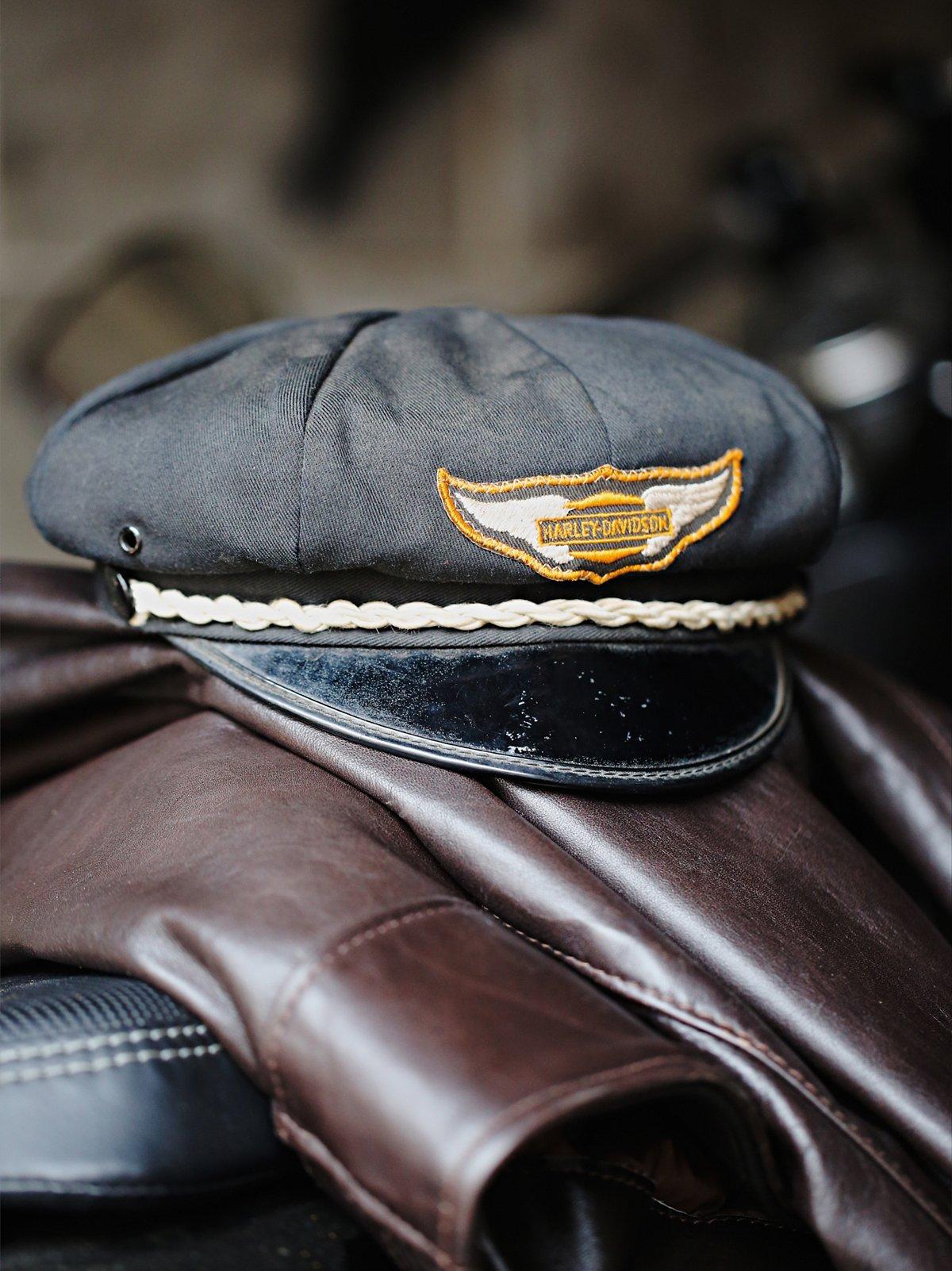 Vintage Harley Biker Hat