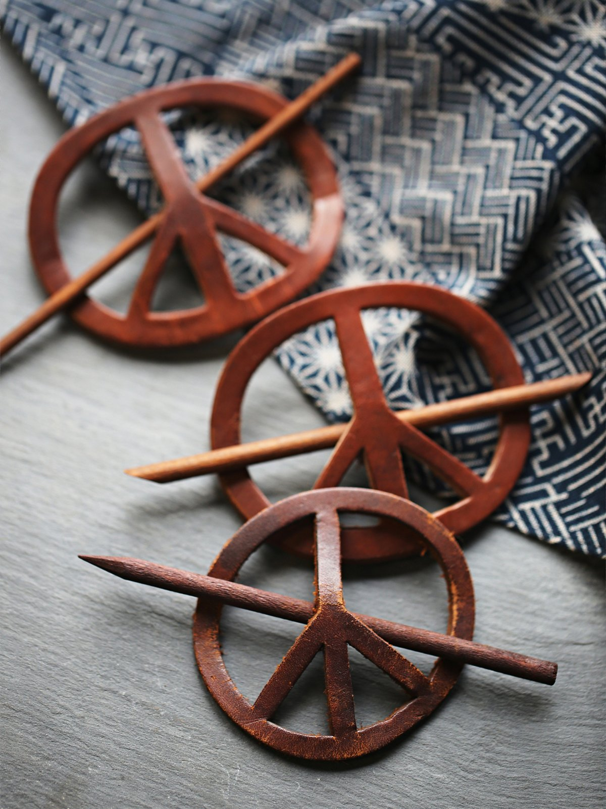 Vintage Peace Sign Hair Pin