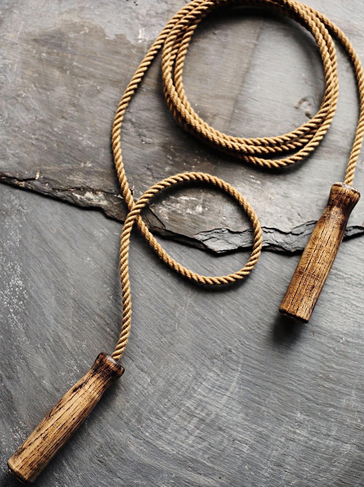 Vintage Wooden Jump Rope