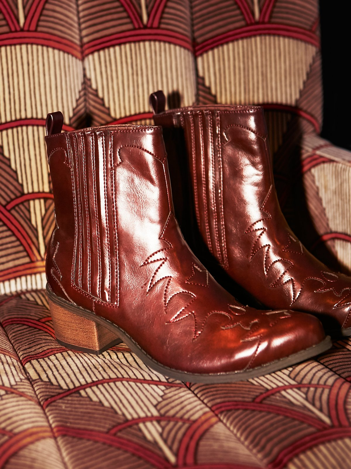Bandit仿皮西部靴