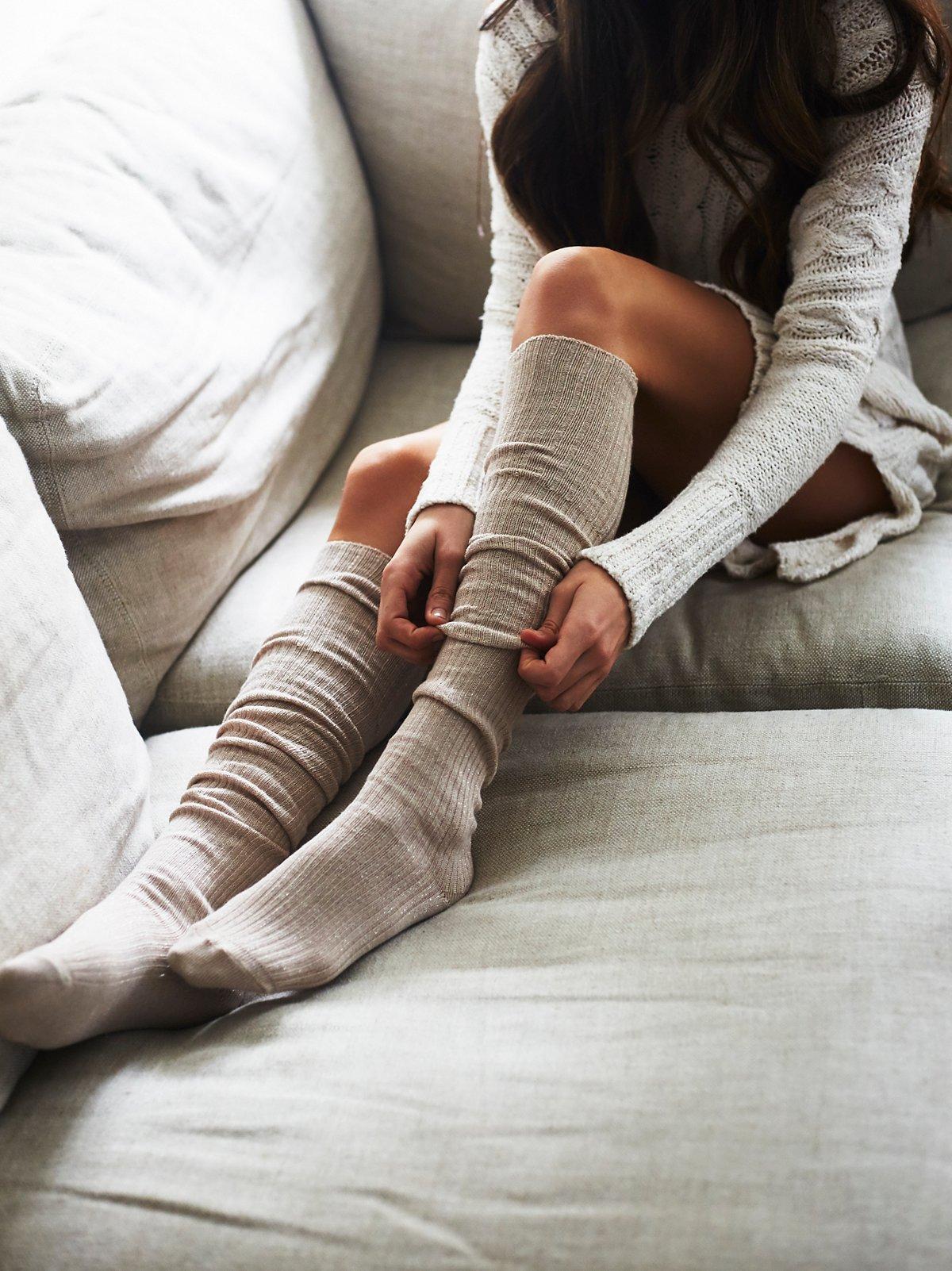 Dream State Shimmer Tall Sock