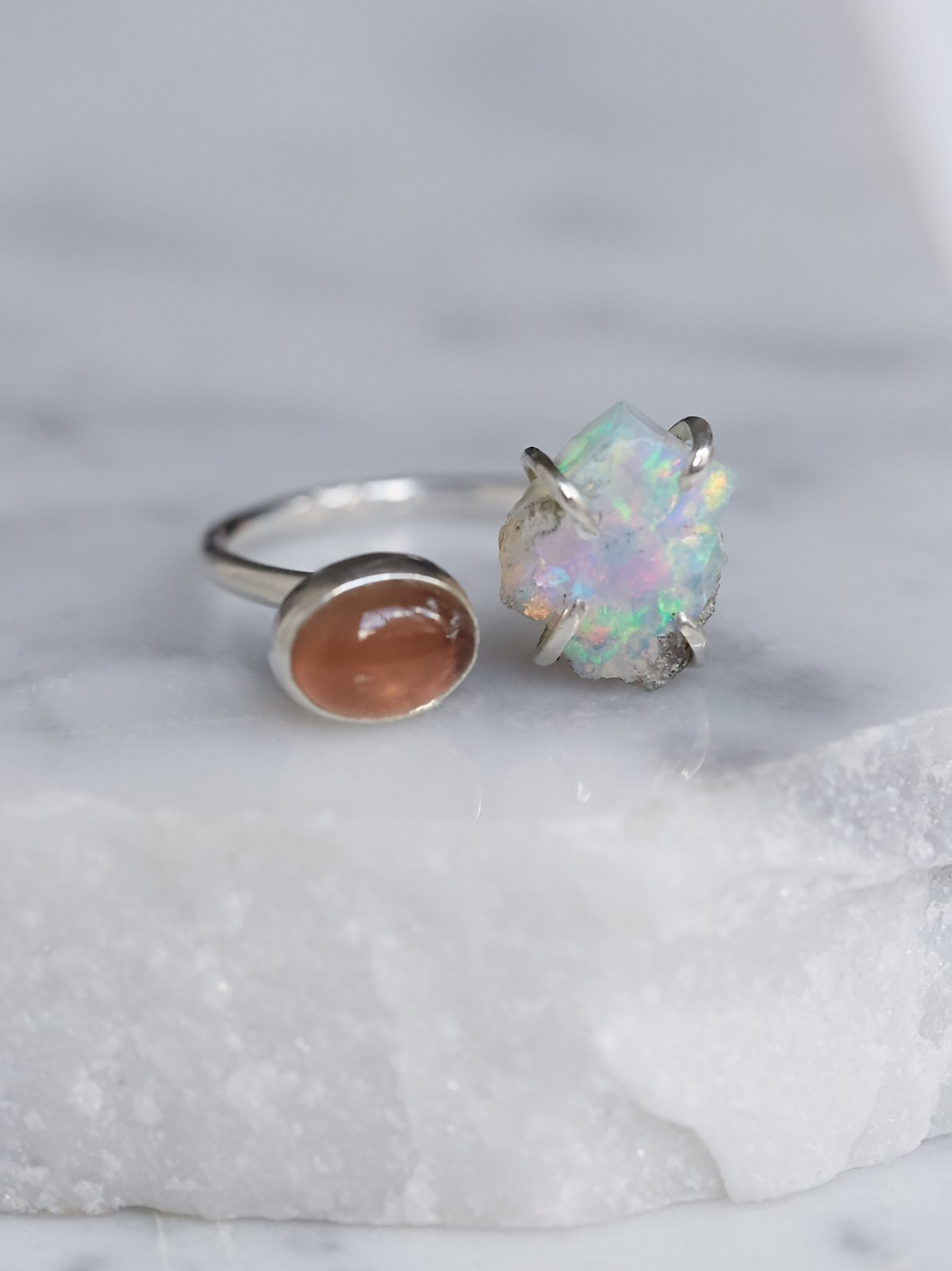 Double Stone Mood Ring