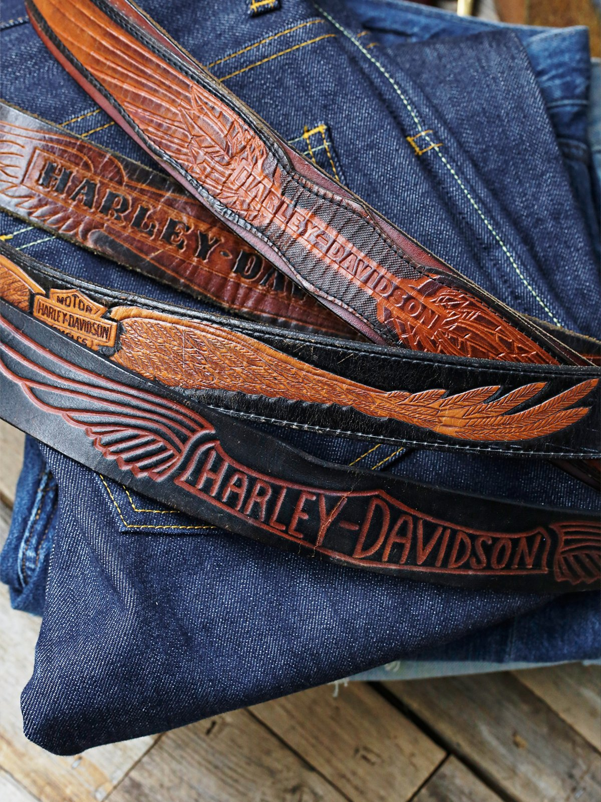 Vintage Harley Davidson Belt