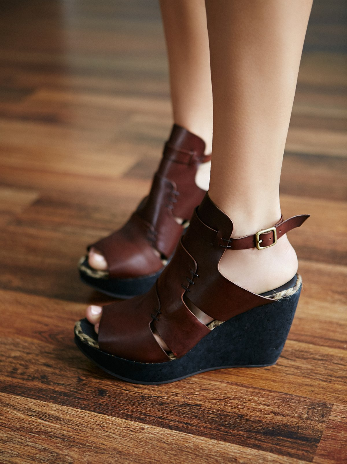 Vachetta Rose坡跟鞋