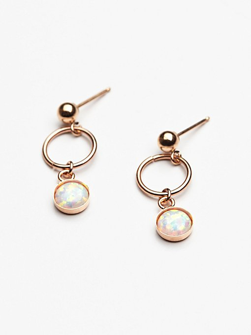 Product Image: Opal Loop Stud Earring